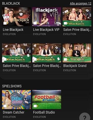 VIPs Casino Live Casino