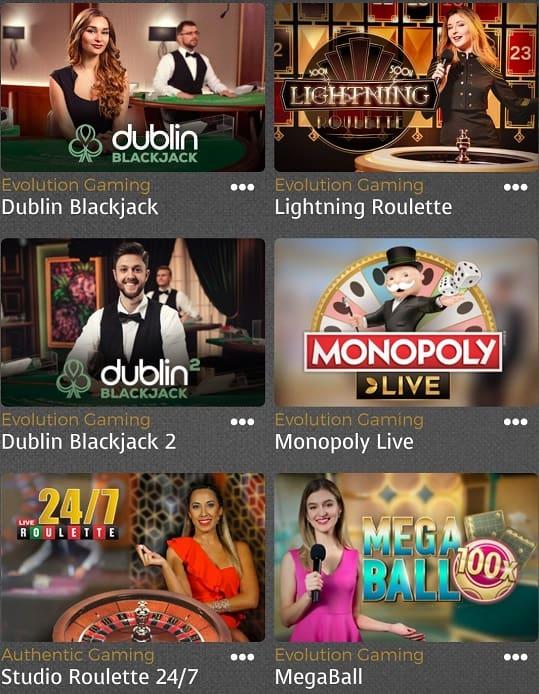 casino extra live casino