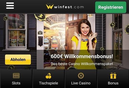 winfest casino 600€ bonus