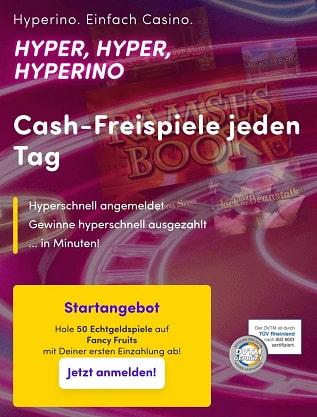 hyperino casino bonus