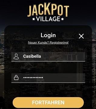 jackpot village login anmeldung