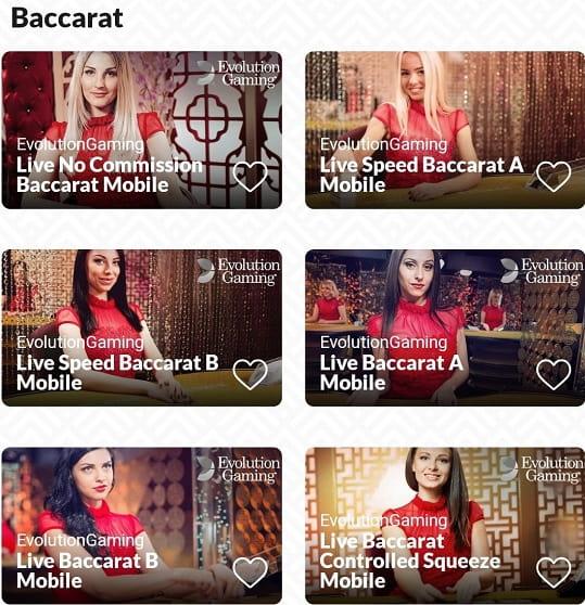 instantwest baccarat live casino