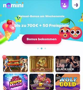 nomini casino reload bonus