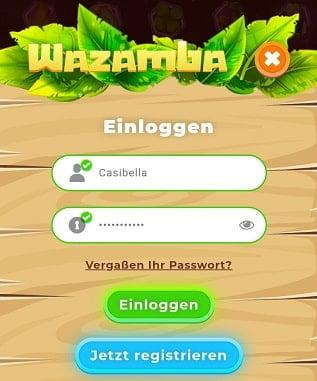 wazamba casino login