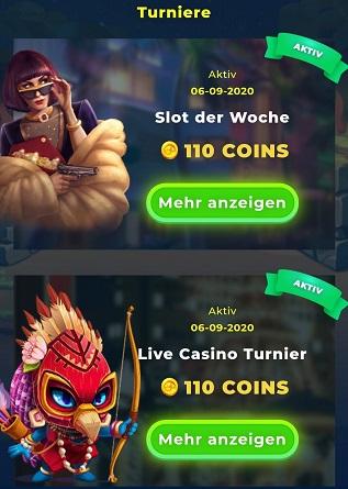 wazamba casino turniere coins