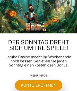 jambo casino freespins