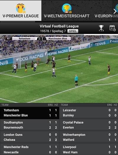 betinia virtual sport
