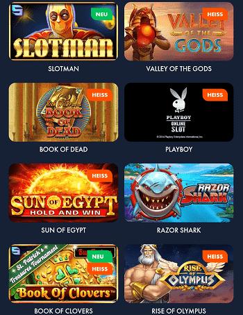 Slotman Casino Spiele