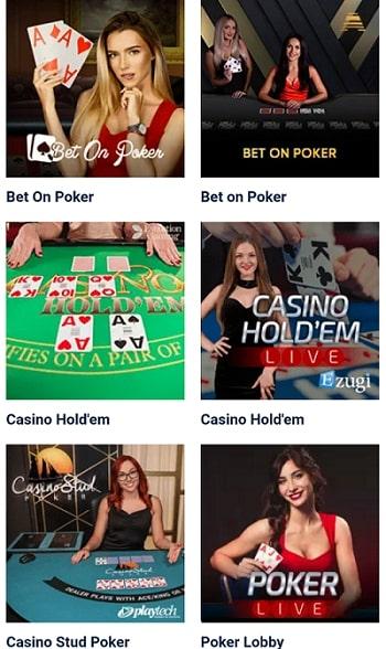 20Bet Live Casino