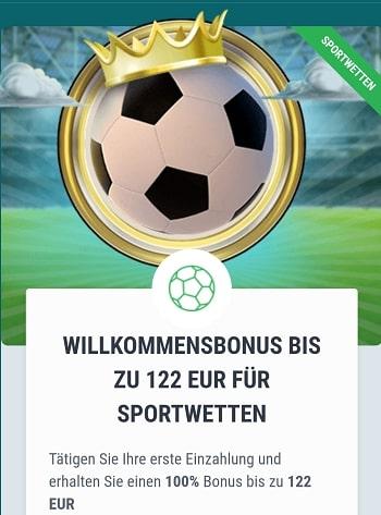 22bet Sportwetten Bonus