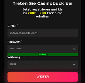 Casino Buck Login