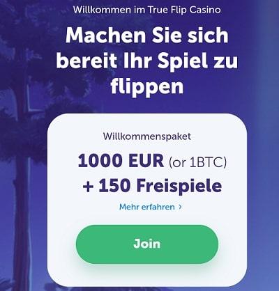trueflip 1 btc bonus oder 1000 euro